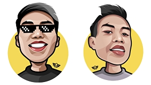 I will draw amazing caricature cartoon from your photo