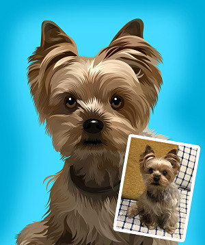 I will draw your pet into a super detailed vector portrait