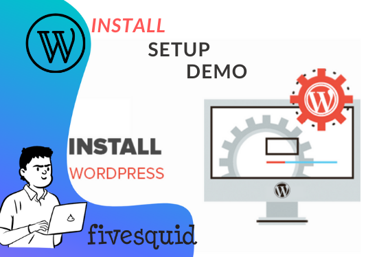 install WordPress latest version, setup , demo import