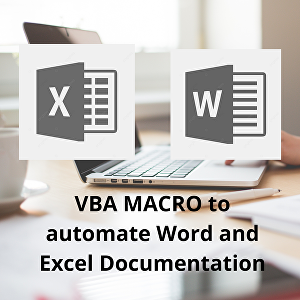 I will create a vba macro in excel and ms word