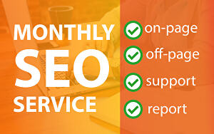 I will provide monthly SEO service with backlinks for top ranking of keywords