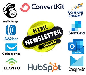 I will create HTML email newsletter template