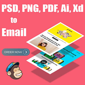 I will convert PSD, jpg, png, pdf, ai to HTML email template