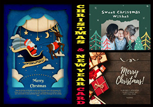 I will design amazing Christmas or NewYear greeting Cards