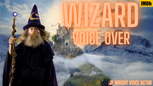 I will  voice over 50 words as an old man British wizard in 24 hours