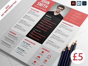 I will Make professional cv, resume, and portfolio design
