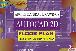 I will design 2d floor plan, and 2d drawings using auto cad