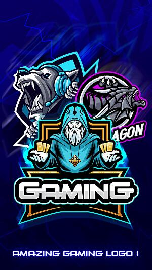 I will design logo gaming mascot for e-sport, twitch, youtube