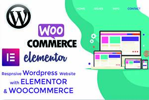 I will create redesign clone WordPress responsive website using Elementor Plugin