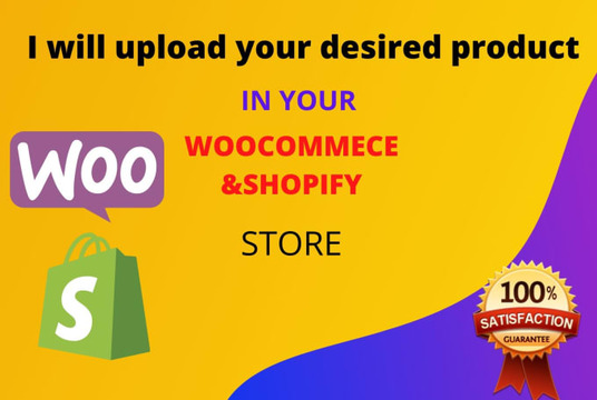 upload your desired product in woo-commerce and Shopify store