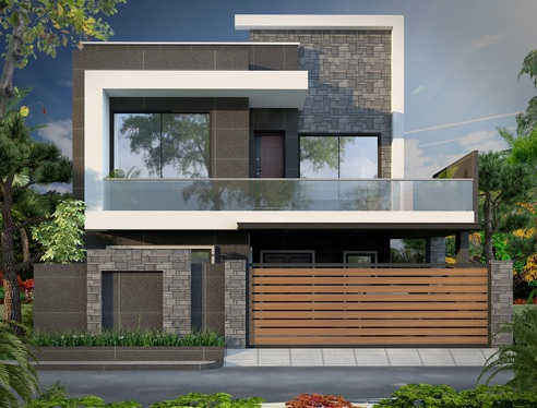 do 3d molding house or building photorealistic rendering
