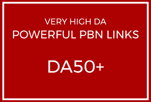 I will Build 10 High DA50+ Home Page PBN Backlinks - Dofollow Quality Links