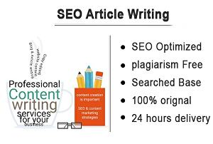 I will write SEO optimized Articles or Blogs
