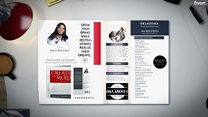 I will create your book and magazine promo video