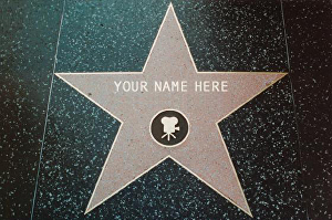 I will write your name or any text on a Hollywood Walk of Fame Star