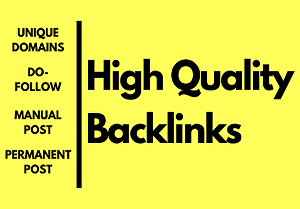 I will do 40 high authority backlinks
