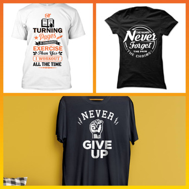 make a trendy graphic or typography t-shirt design