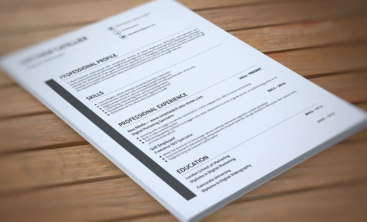 design an eye-catching Resume or CV for you