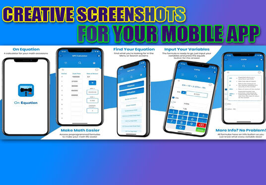 Design Amazing And Creative Screenshots For Your Mobile App