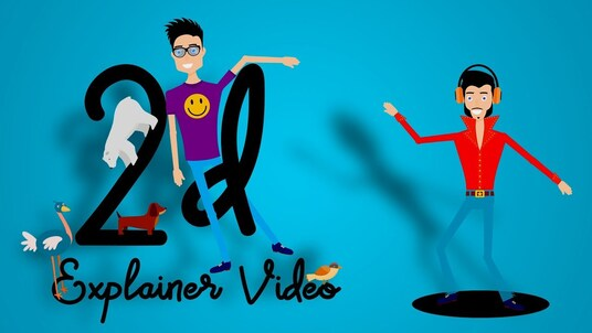 create an eye catching 2d animated video