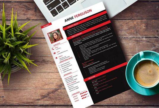 create and design professional resume or CV