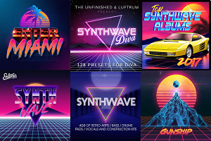 I will design 80s retro, mixtape synthwave album, single cover art
