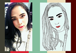 I will draw your photo into line art, digital sketch