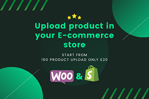 I will upload 150 product to your e-commerce store