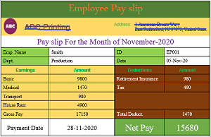 I will create 100 employee salary pay slip for your company or business.