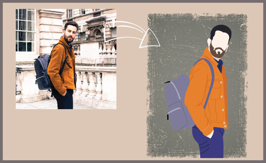 create a vector portrait of your photo