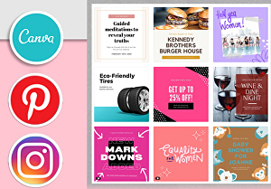 I will create Canva Instagram Templates for a Beautiful Feed and Instagram Post