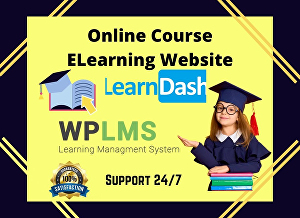 I will create an online course website or eLearning website