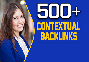 I will create 500 high quality contextual SEO dofollow backlinks