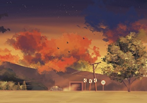 I will create illustrations and anime backgrounds