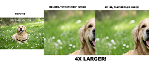 I will resize your images with AI upscaling