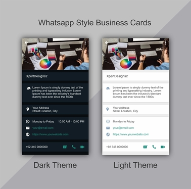 design WhatsApp style Business Cards