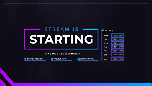 I will set up a professional looking stream