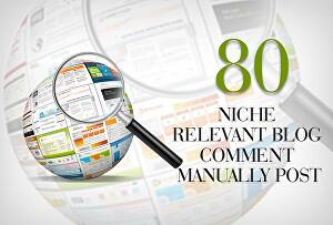 I will create 80 niche relevant no-follow backlinks