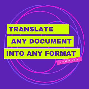 I will Convert documents to different formats