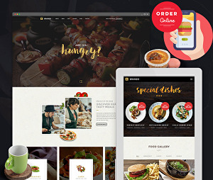 I will design unique WordPress restaurant website with a food order, delivery system