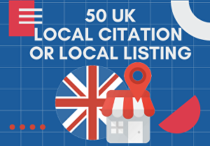 I will do 50 seo uk local citation or local listings or directory submission
