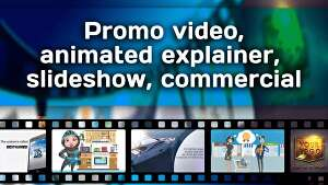 I will create explainer commercial video for business