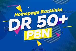 I will Create 3 PBNs DR 50+ Dofollow Homagepage Backlinks