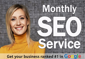 I will provide monthly on and off-page optimization for google ranking