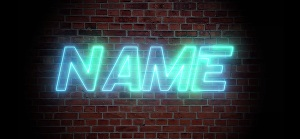 I will make neon text effect intro