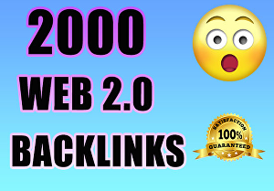 I will Provide 200  Web 2.0 Backlinks