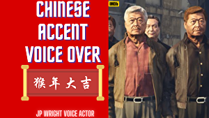 I will Voice Over 50 words in a Chinese Accent in 24 hours