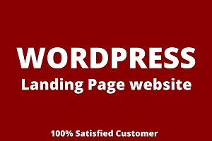 I will create a responsive landing page wordpress website