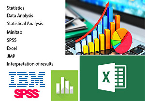 I will do any data analysis using spss, minitab and excel