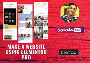 I will create a unique landing page using Elementor Pro